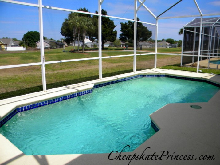 rent a house with a pool, heated pool on vacation, heated pool in Orlando
