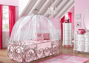 Disney princess bed, Disney princess bedroom, live like a Disney princess, how much does it cost to be a Disney princess, Disney Princess bed, Cinderella bed, Princess Cinderella bedroom