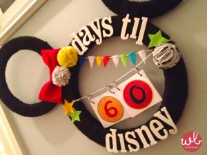 make a Disney World Count Down, count down to a Disney vacation, Pinterest Disney crafts