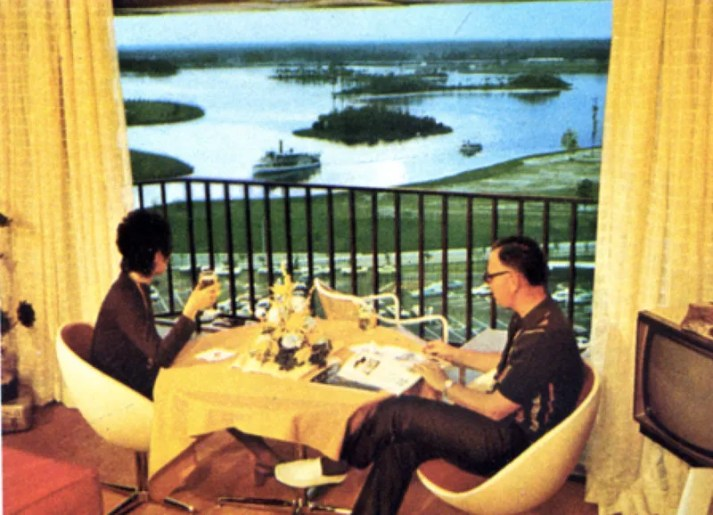 1971 Contemporary Resort balcony with vintage chairs