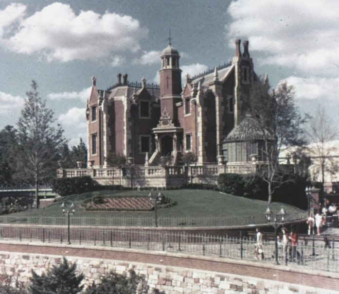 vintage photo of Disney Wold Haunted Mansion