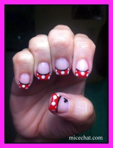 manicure instructions, do your own manicure, save money on manicures, do your own nail art, do your own Disney nail art,