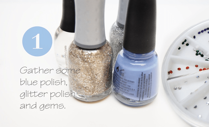 Cinderella manicure for Disney Moms