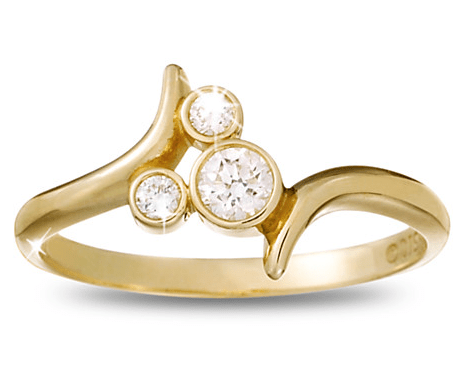 Diamond Mickey Mouse gold Icon ring