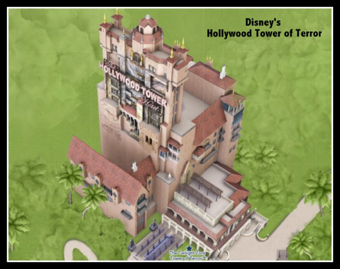 Google map of Disney's Hollywood Tower of Terror