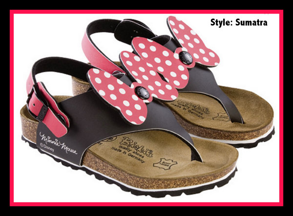 Sumatra Minnie Mouse Birkinstock sandals for girls