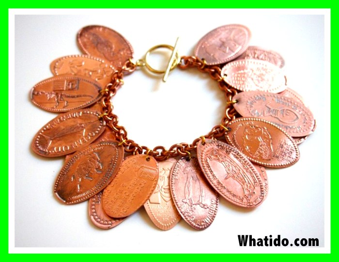 instructions on how to make a pressed penny bracelet