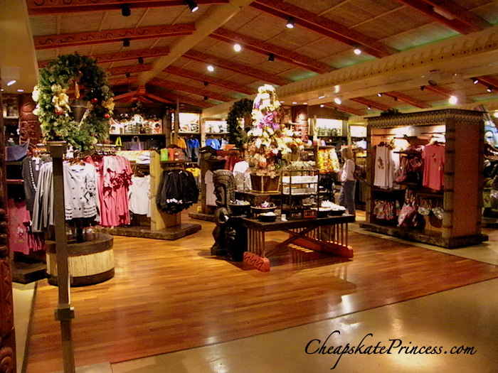 Disney's Polynesian Resort gift shop