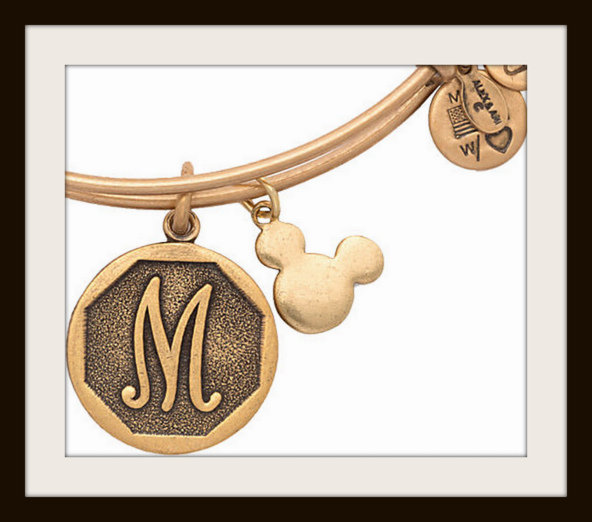Alex and Ani Disney initial bracelet