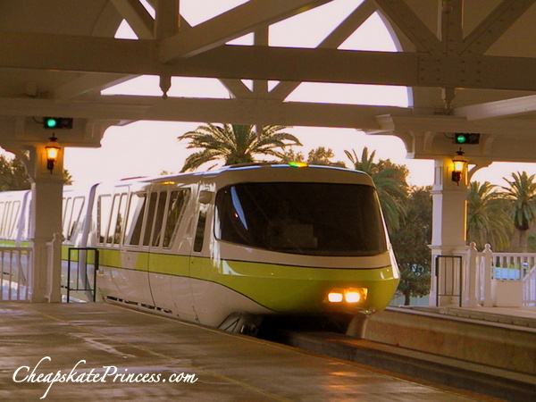 ride the monorail at the Grand Floridian Resort at Disney World