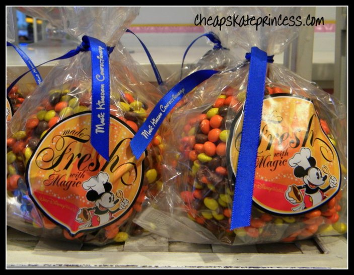 sample a chocolate covered caramel apple at Disney World