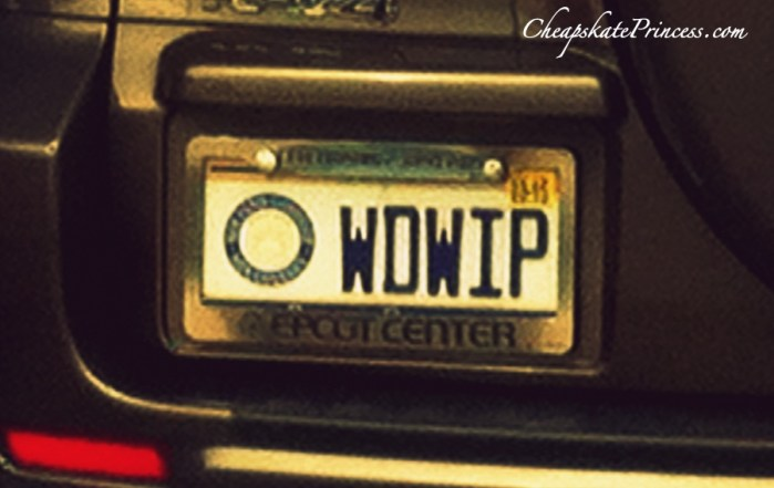 Disney World vanity plates