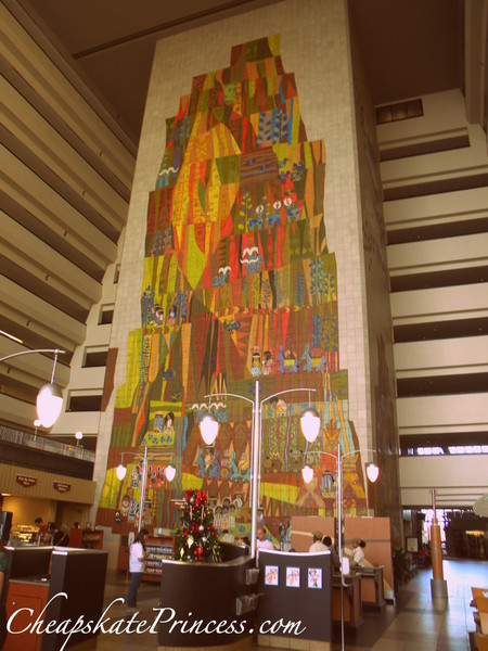 Mary Blair tile mural at the Contemporary Resort
