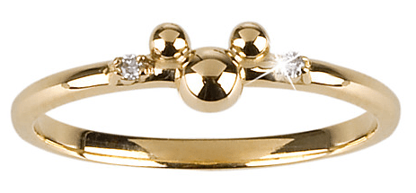 gold Mickey Mouse wedding ring
