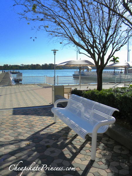 take a seat out by Disney's Contemporary Resort marina