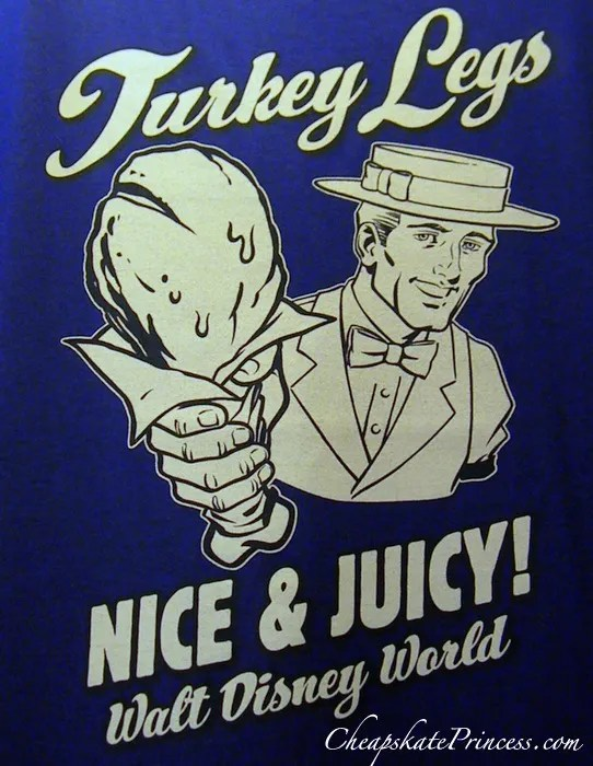 turkey leg t-shirt at Disney World