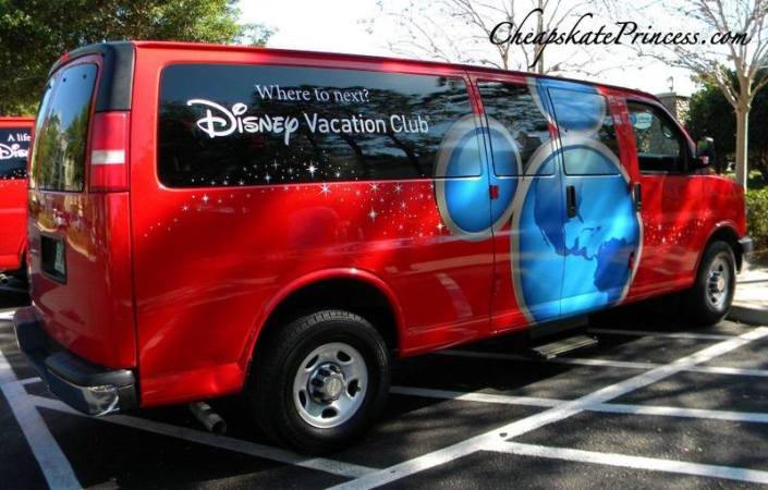 Disney Vacation Club van