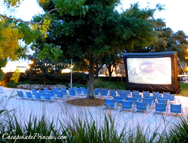 how to see outdoor movies at Disney World