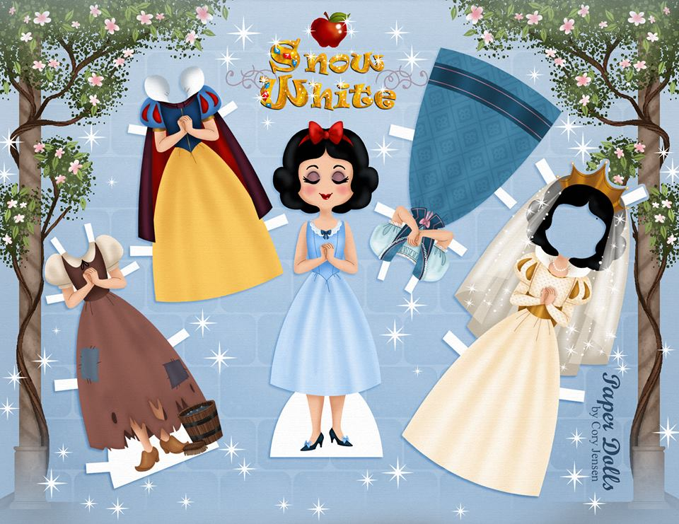 Disney Snow White Paper Doll