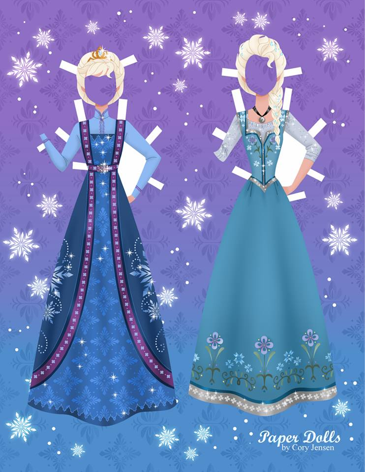 Elsa Frozen Disney paper doll