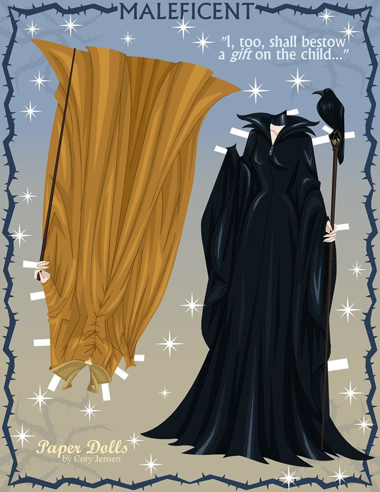 Maleficent paper doll collection