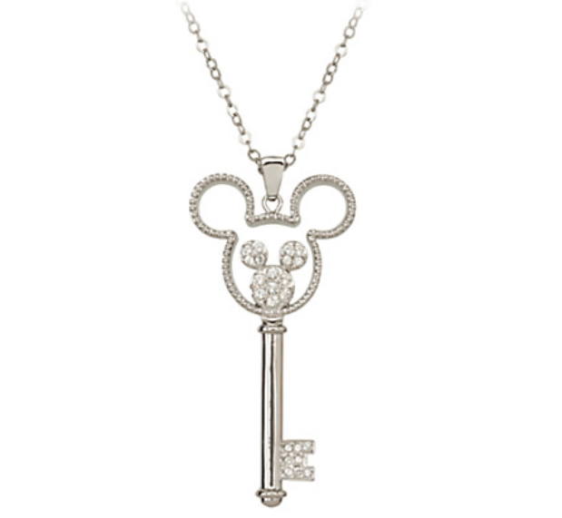 Mickey Mouse Double Icon Key Necklace