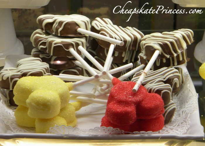 Mickey Mouse cake pop at Disney World