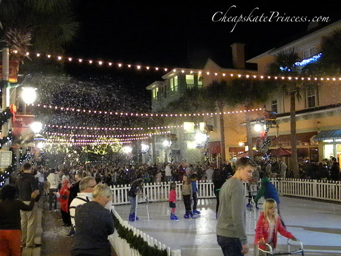 ice skating and snow in Florida.