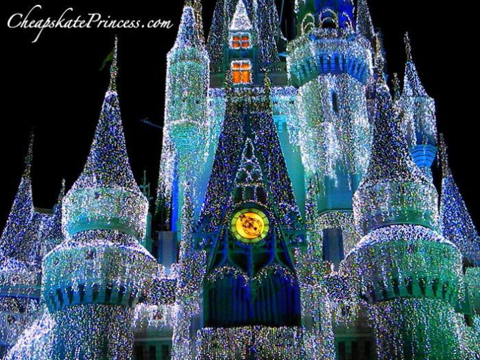 Disney World Christmas castle