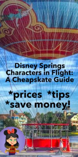 Guide to Characters in Flight at Disney Springs, tips for Disney Springs cheap activities