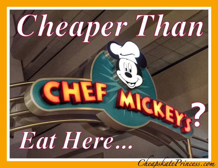 Chef Mickey's substitute