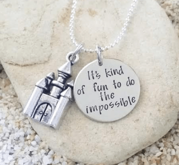 It's kind of fun to do the impossible Disney jewelry