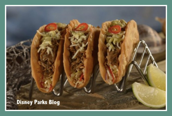 Kalua Pork Tacos at Disney World Trader Sam's