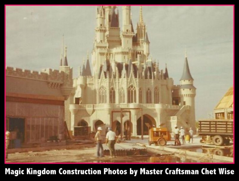 Magic Kingdom construction original photos
