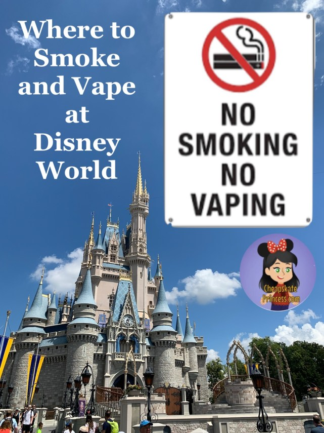 where to smoke and vape at Disney World