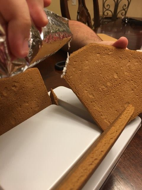 fix a broken gingerbread house