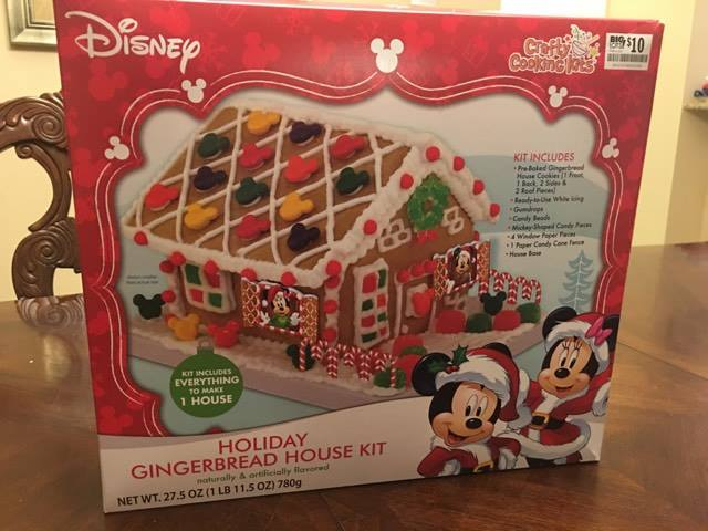 Disney gingerbread kit and instructions