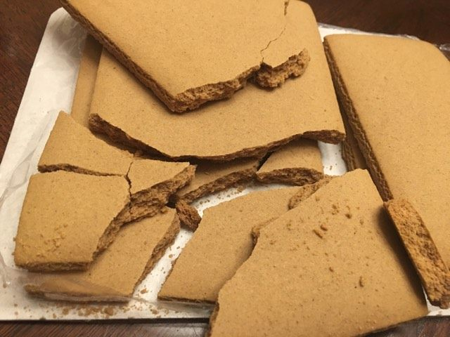 how to repair a broken gingerbread house