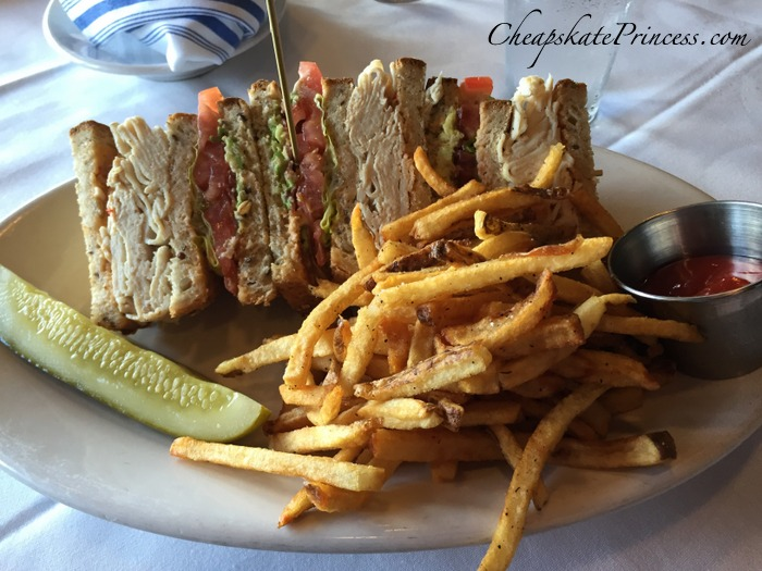 Disney Boathouse club sandwich