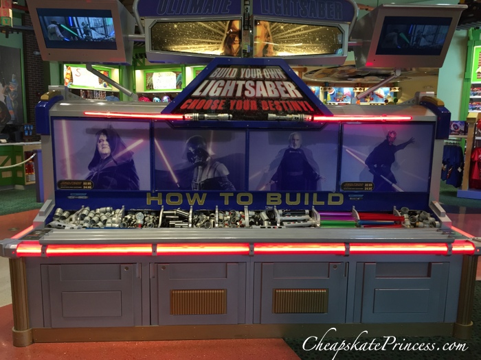 build your own lightsaber at Disney Springs