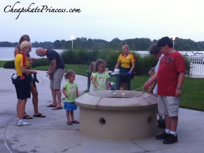 fires and marshmallows at Disney resorts