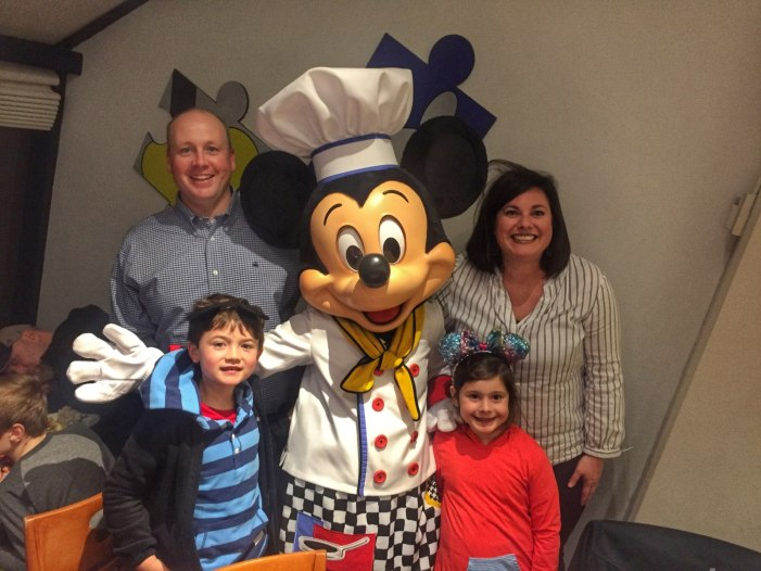 Mickey Mouse at Chef Mickey's restaurant