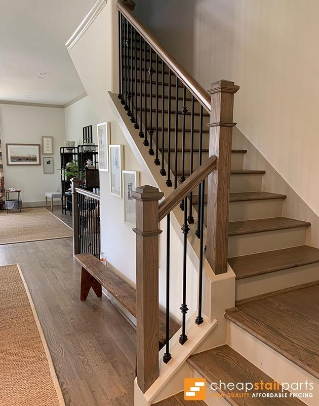 Cheap Stair Parts Shop Iron Balusters Handrail Treads Newels | Wood Handrail With Iron Balusters | Stairway | Wooden | Copper | Cast Iron | Landing