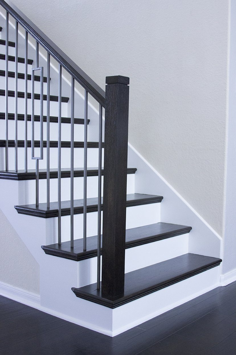 Square Newel Cap Cheap Stair Parts | Modern Newel Post Designs | White | Maple | Banister | Oak | Interior