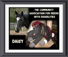 Knitted Horse for The Community Association for Riders with Disabilities