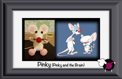 Crochet Pinky (from Pinky and the Brain)