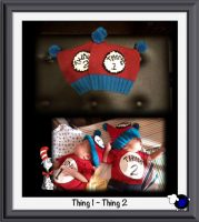 Knitted Dr. Seuss Thing 1 Thing 2 Hats