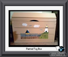 Painted Toy Box
