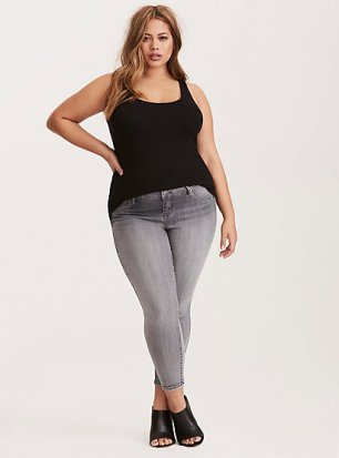 Torrid Ribbed Knit Double Scoop Tank Top-$21.67