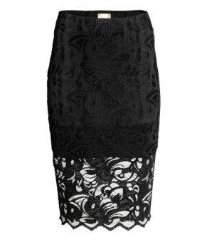 H&M Lace Pencil Skirt-$34.99